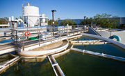 Sewage plant filtering
